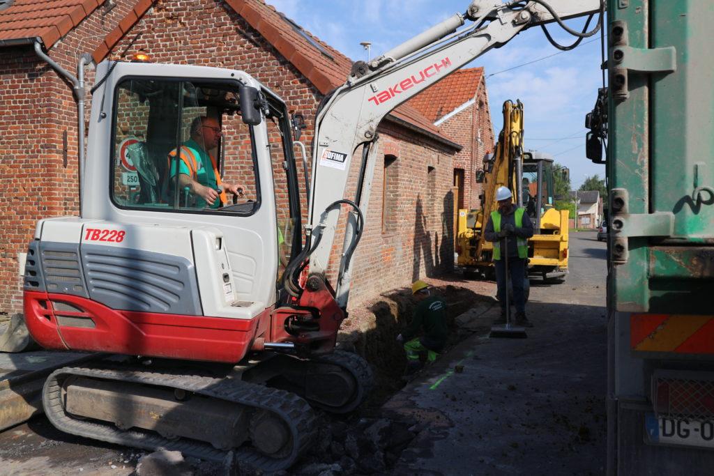 Hecq TP (Travaux Publics) 59 - aménagement extérieur - assainissement - Maubeuge Valenciennes Cambrai