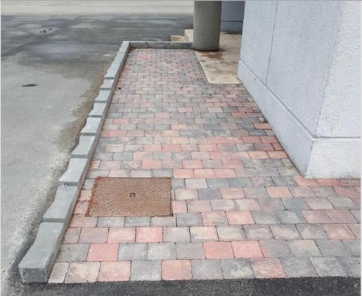 Hecq TP (Travaux Publics) 59 - travaux d'aménagements extérieurs - pose de clôture - enrobage - pavage - rampe d accès PMR personne à mobilité réduite