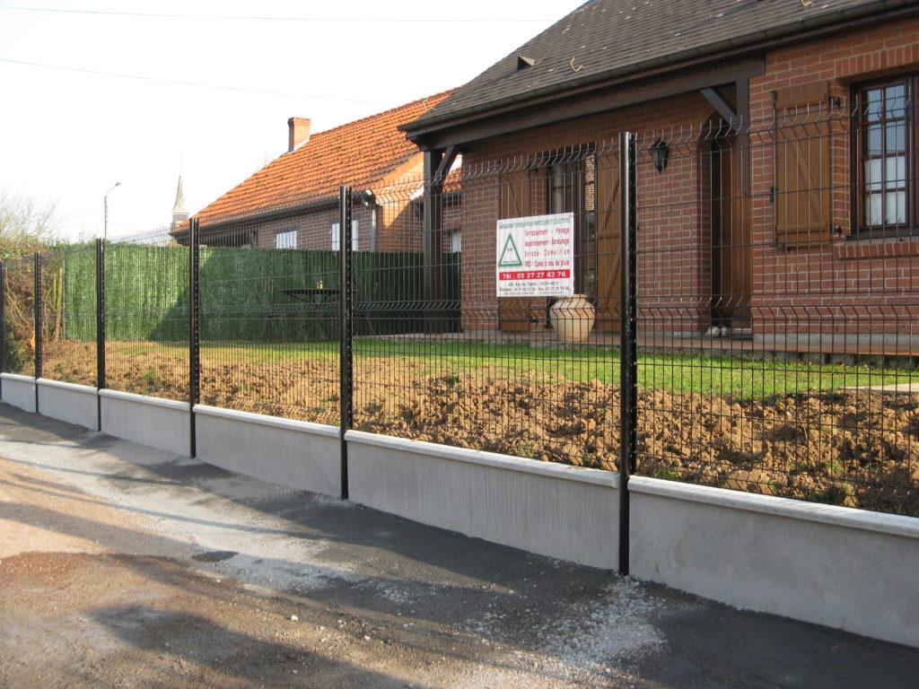 clôture Hecq TP (Travaux Publics) 59 - aménagement extérieur - assainissement - Maubeuge Valenciennes Cambrai Douai Lille Saint Quentin
