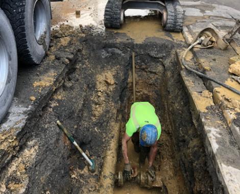 recherche et réparation de fuite d'eau potable Hecq TP (Travaux Publics) 59 - aménagement extérieur - assainissement - Maubeuge Valenciennes Cambrai Douai Lille Saint Quentin